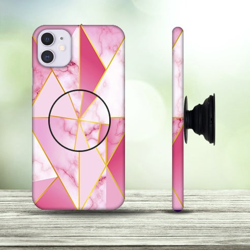 Marble Family Pink Designer Mobile Cover Case With Holder