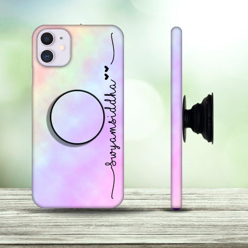 Rainbow Mobile Cover with Pop holder