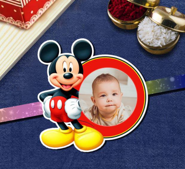 Mickey Mouse Photo Rakhi For Kids